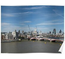 St. Paul's Cathedral from Oxo Tower Poster