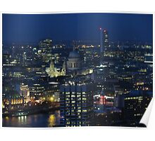 View from London Eye Poster