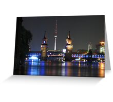 Berlin TV Tower and Oberbraumbrücke Greeting Card