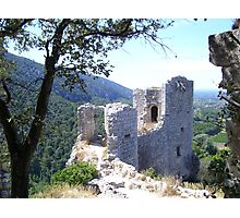 Ruin in France Photographic Print