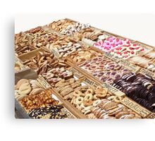 French market offers some goodies... Canvas Print