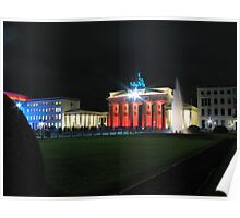 Brandenburg Gate during festival of lights Poster
