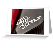 Alfa Romeo Insignia Greeting Card