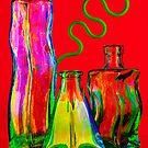 Wimsical Bottles by Inge Johnsson