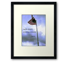 RON PAUL REVOLUTION 2012 Framed Print