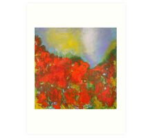 Poppies. 30 x 30. Acrylic Painting. Art Print
