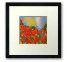 Poppies. 30 x 30. Acrylic Painting. Framed Print