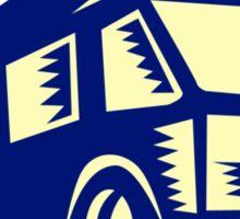 Camper Van Motor Home Woodcut Sticker