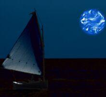Cedar Key Moonlight Sailboat by Bevin Allison