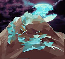 Night Mountains No. 16 by BakmannArt
