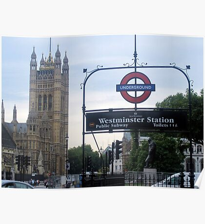 Westminister Abbey-Underground Poster