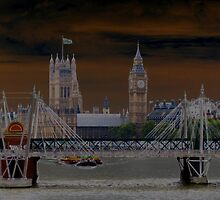 Big Ben-Wesminister Abbey-solarized by Darrell-photos