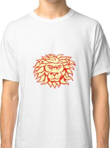 Angry Lion Big Cat Head Retro Classic T-Shirt