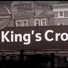 Kings Cross Underground-Tube- black-white by Darrell-photos