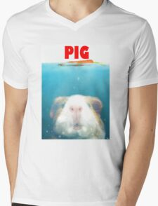 Sea Pig Mens V-Neck T-Shirt