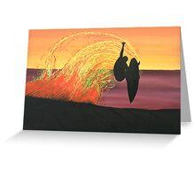 BIG AIR AT SUNSET Greeting Card