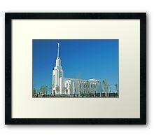 Twin Falls Idaho LDS Temple Framed Print
