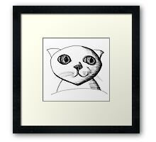 Catty Framed Print