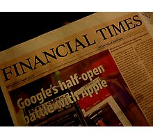 FINANCIAL TIMES Photographic Print
