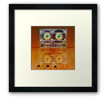 Cassette Tape Analogue Cartoon 3 Framed Print