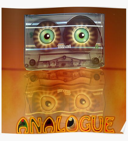 Cassette Tape Analogue Cartoon 3 Poster
