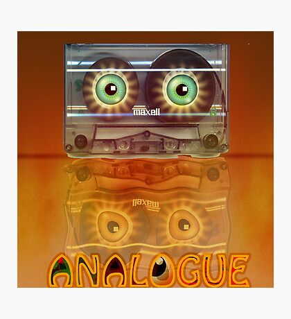 Cassette Tape Analogue Cartoon 3 Photographic Print
