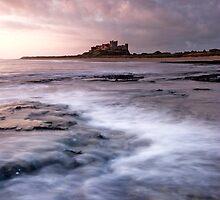 Bamburgh Castle, Sunrise by Michael Treloar