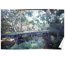 Burke's bridge - Hurstbridge N.E Melbourne Poster