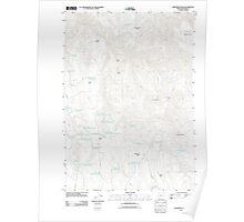 USGS Topo Map Oregon Monument Peak 20110819 TM Poster