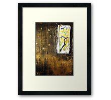 Eco Art in Gold Framed Print