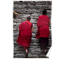 Bhutanese monks Poster