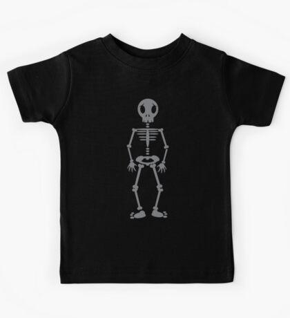 Skeleton standing cute Kids Tee