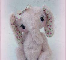 Eve  Elephant - Handmade bears from Teddy bear Orphans by Penny Bonser