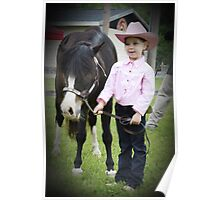 Little one with horse Poster
