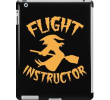 Witch on a broomstick FLIGHT INSTRUCTOR orange iPad Case/Skin