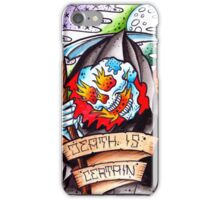 Death is Certain - art print iPhone Case/Skin