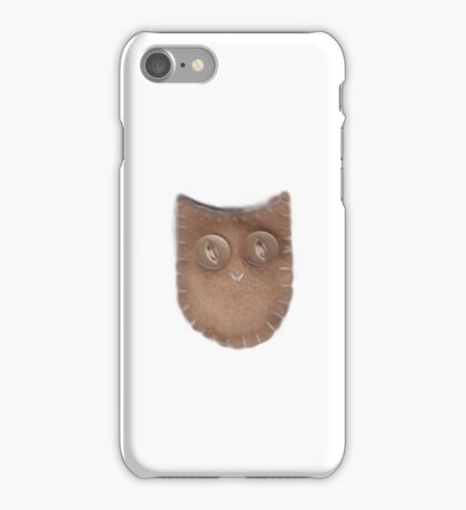 Cute Felt Owl BIEGE iPhone Case/Skin