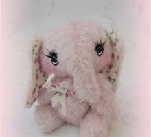 Elisha Elephant - Handmade bears from Teddy bear Orphans by Penny Bonser