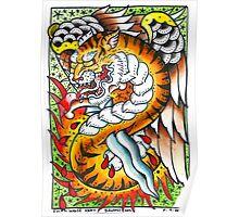 Tiger snake - Tattoo Art Print Poster