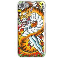 Tiger snake - Tattoo Art Print iPhone Case/Skin