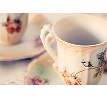 Teacups Photographic Print