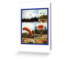 HUMAN-KITES IN AUSTRIA Greeting Card