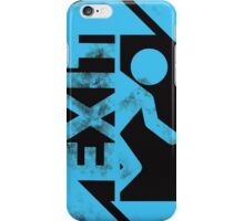 portal blue iPhone Case/Skin