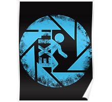 portal blue Poster