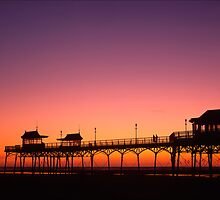 Sunset over Lytham pier, Lancashire by Darryl Gill