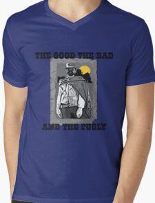 Funny Pug Mens V-Neck T-Shirt
