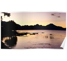 Pink Sunrise Over Atitlan Poster
