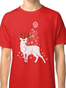 A White Hart Merry Christmas card, etc. design Classic T-Shirt