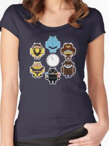 Watchdroids (no text) Women's Fitted Scoop T-Shirt