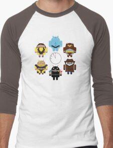 Watchdroids (no text) Men's Baseball ¾ T-Shirt